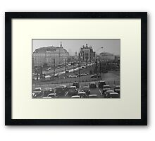 Moscow, life in a big city Framed Print