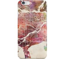 Vancouver map iPhone Case/Skin