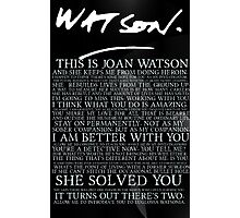 joan watson-alternate Photographic Print