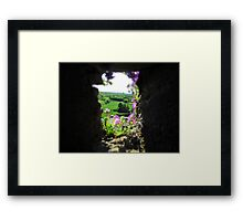 A Flowery Perspective Framed Print