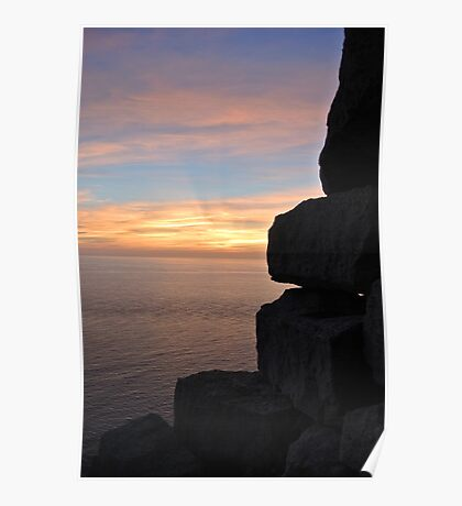 Quarry Sunset Poster