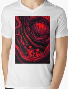CTHULHU OUT OF SPACE Mens V-Neck T-Shirt