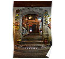 Ceramics Shop Entrance, Caltagirone, Sicily Poster