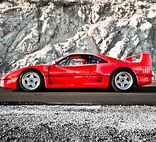 Ferrari F40 | Earth Scraper by Gil Folk