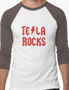Tesla Rocks Men's Baseball ¾ T-Shirt