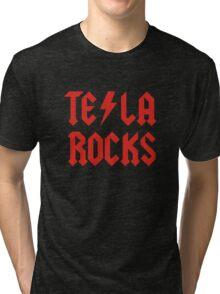 Tesla Rocks Tri-blend T-Shirt