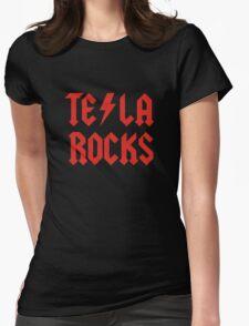 Tesla Rocks Womens Fitted T-Shirt