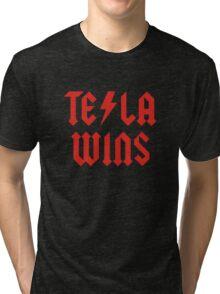 Tesla Wins Tri-blend T-Shirt