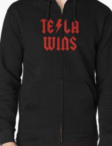 Tesla Wins Zipped Hoodie