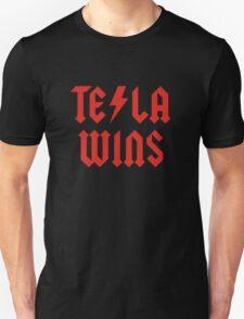 Tesla Wins Unisex T-Shirt