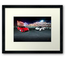 Night on the Town Framed Print