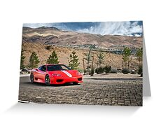 Ferrari 360 Challenge Stradale Greeting Card