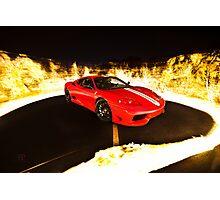 Fiery Ferrari Photographic Print