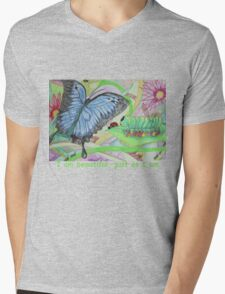 From Caterpillar to Butterfly Mens V-Neck T-Shirt
