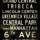 "New York ""Soho"" V2 Distressed subway sign art by Subwaysign"
