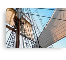 Barque At The Bay Canvas Print