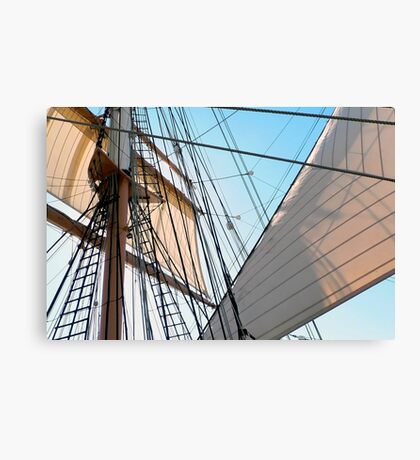 Barque At The Bay Canvas Print