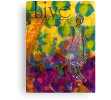 LIVE for Today - Journal Art - WIP Canvas Print