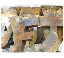 Alphabet Junk Yard  Poster