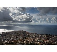 Drama in the Sky of Naples Photographic Print