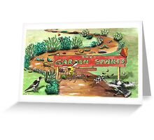 The Garden Stakes Greeting Card