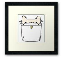 Pocket Cat Framed Print