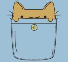 Pocket Cat - Orange Kids Clothes