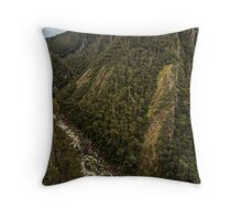 Leven Canyon from Edge Lookout viewing South Throw Pillow