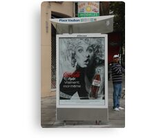 Coca Cola in Cannes, Canvas Print