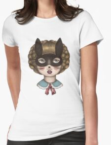 Ceremony - Masked Bunny lass Womens Fitted T-Shirt