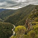 Leven Canyon from Cruikshanks Lookout viewing North by fotosic