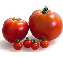 Happy Tomato Family Photographic Print