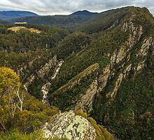 Leven Canyon from Cruikshanks Lookout viewing South by fotosic