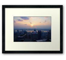 Sunset in Manhattan Framed Print