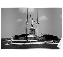Statue of Liberty - Black and White Poster