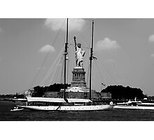 Statue of Liberty - Black and White Photographic Print