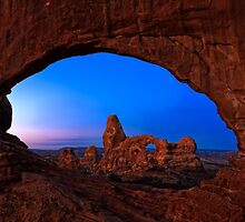 Turret Arch thru North Window by Dick Paige