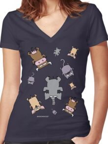 Raining cats and dogs and cows and elephants Women's Fitted V-Neck T-Shirt