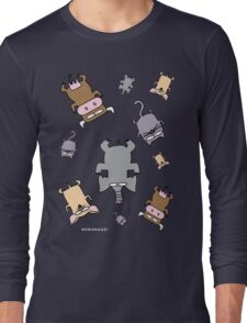 Raining cats and dogs and cows and elephants Long Sleeve T-Shirt