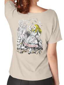 Vintage Alice in Wonderland Card Attack Women's Relaxed Fit T-Shirt