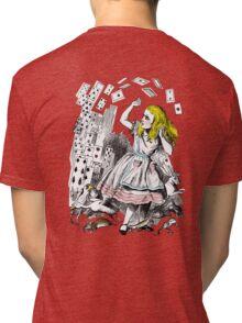 Vintage Alice in Wonderland Card Attack Tri-blend T-Shirt