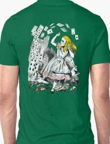 Vintage Alice in Wonderland Card Attack Unisex T-Shirt