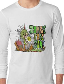 Zombie Free Zone Long Sleeve T-Shirt