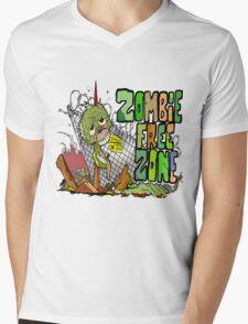Zombie Free Zone Mens V-Neck T-Shirt