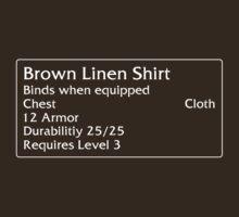 Brown Linen Shirt by DPSmachine