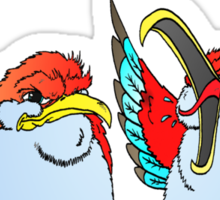 Flock You Birds Sticker
