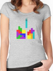 Tetris + LEGO = ??? Women's Fitted Scoop T-Shirt