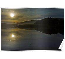 Aire River Reflections Poster