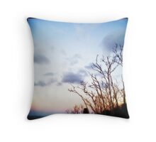 Sunrise Over Trees Throw Pillow