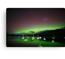 Aurora Australis at Port Huon, Tasmania #5 Canvas Print